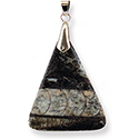 Fossil Necklace - Orthoceras Triangle
