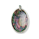 Mother of Pearl Pend. Necklace - Seahorse