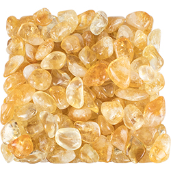 Citrine Tumbled Stone - XSmall - Sold by the Pound - Approximately 270 Pieces Per Pound