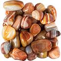 Red Agate Striped Tumbled Stone