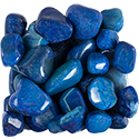 Blue Agate Tumbled Stone