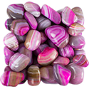 Pink Agate Striped Tumbled Stone