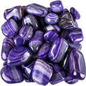 Purple Agate Striped Tumbled Stone