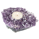 Natural Amethyst Candle Holder