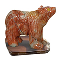 Carved Stone Bear on Base