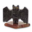 Carved Stone Bat on Base