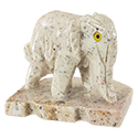 Carved Stone Circus Elephant