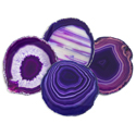 Agate Coasters - Purple