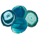 Agate Coasters - Teal