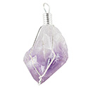 Natural Amethyst Wire Wrap Necklace