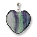 Heart Necklace 24mm - Fluorite