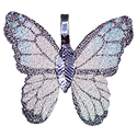 Painted Butterfly Leaf Necklace - Silver