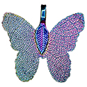Butterfly Leaf Asst. Colors Necklace - Silver