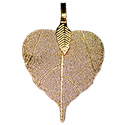 Heart Leaf Asst. Colors Necklace - Gold