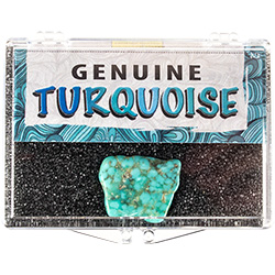 Genuine Turquoise Nugget Educational Box