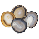 Agate Coasters - Natural