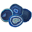 Agate Coasters - Blue