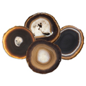 Agate Coasters - Black