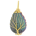 Aura Small Druzy Teardrop - Gold