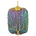 Aura Rectangle, Wire Tree - Gold