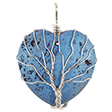 Aura Heart, Wire Tree - Silver