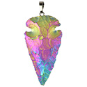 Aura Arrowhead Necklace - Silver