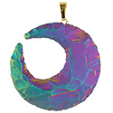 Aura Moon Necklace - Gold