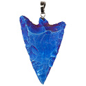 Aura Barbed Arrowhead Necklace - Silver