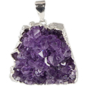 Amethyst Cluster Necklace - Silver