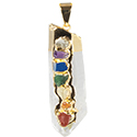 Chakra on Natural Point Necklace - Gold