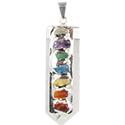 Chakra on Natural Point Necklace - Silver