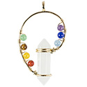 Point with Chakra Swirl - Gold