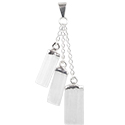 3 Selenite Slice Necklace - Silver