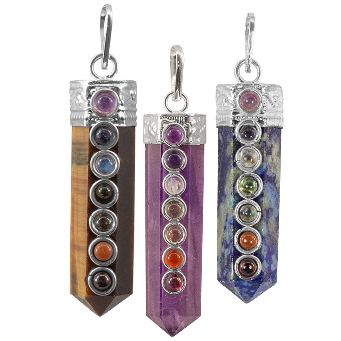 Capped Chakra Point Necklace