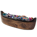 Wood Canoe Display