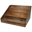 Wood Display - 4 Tiered - Large
