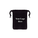Black Felt Bag - 2x3 - Custom