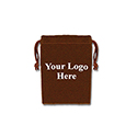 Brown Felt Bag - 2x3 - Custom