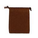Brown Felt Bag - 3x4