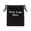 Black Felt Bag - 3x4 - Custom