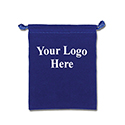 Blue Felt Bag - 3x4 - Custom