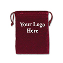 Red Felt Bag - 3x4 - Custom