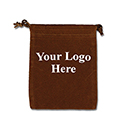 Brown Felt Bag - 3x4 - Custom