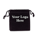 Black Felt Bag - 3x3 - Custom