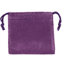 Purple Felt Bag - 3x3