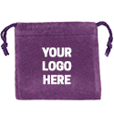 Purple Felt Bag - 3x3 - Custom