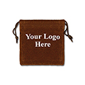 Brown Felt Bag - 3x3 - Custom