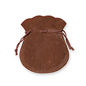 "Brown Round 3"" Felt Bag"