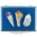 Quartz, Amethyst, & Citrine Points Educational Box