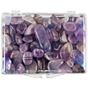 Polished Amethyst Educational Box